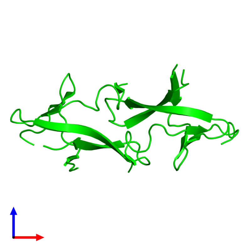 <div class='caption-body'><ul class ='image_legend_ul'>The deposited structure of PDB entry 1pm3 coloured by chemically distinct molecules and viewed from the side. The entry contains: <li class ='image_legend_li'>2 copies of PRC domain-containing protein</li><li class ='image_legend_li'>There are no non-polymeric molecules</li></ul></li></ul></li></div>