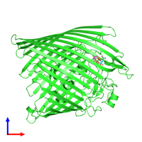 PDB 1po3 coloured by chain and viewed from the front.