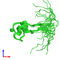 PDB 1ps2 coloured by chain and viewed from the side.