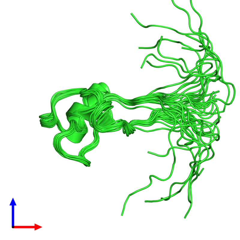 <div class='caption-body'><ul class ='image_legend_ul'>The deposited structure of PDB entry 1ps2 coloured by chain and viewed from the side. The entry contains: <li class ='image_legend_li'>1 copy of Trefoil factor 1</li><li class ='image_legend_li'>There are no non-polymeric molecules</li></ul></li></ul></li></div>
