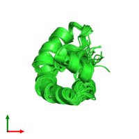 PDB 1puz coloured by chain and viewed from the top.