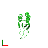 PDB 1q4r coloured by chain and viewed from the top.
