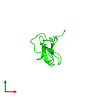0-meric assembly 1 of PDB entry 1q7j coloured by chemically distinct molecules and viewed from the top.