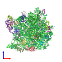 PDB 1q86 coloured by chain and viewed from the front.