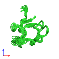 PDB 1qcv coloured by chain and viewed from the front.