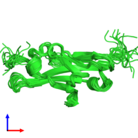 PDB 1qsv coloured by chain and viewed from the side.