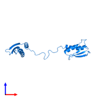 PDB 1qu6 contains 1 copy of Interferon-induced, double-stranded RNA-activated protein kinase in assembly 1. This protein is highlighted and viewed from the side.