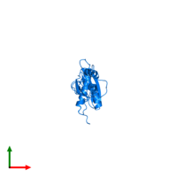 PDB 1qu6 contains 1 copy of Interferon-induced, double-stranded RNA-activated protein kinase in assembly 1. This protein is highlighted and viewed from the top.