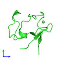 PDB 1r0j coloured by chain and viewed from the front.