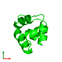 0-meric assembly 1 of PDB entry 1r63 coloured by chemically distinct molecules and viewed from the top.