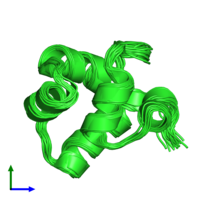 PDB 1r63 coloured by chain and viewed from the front.