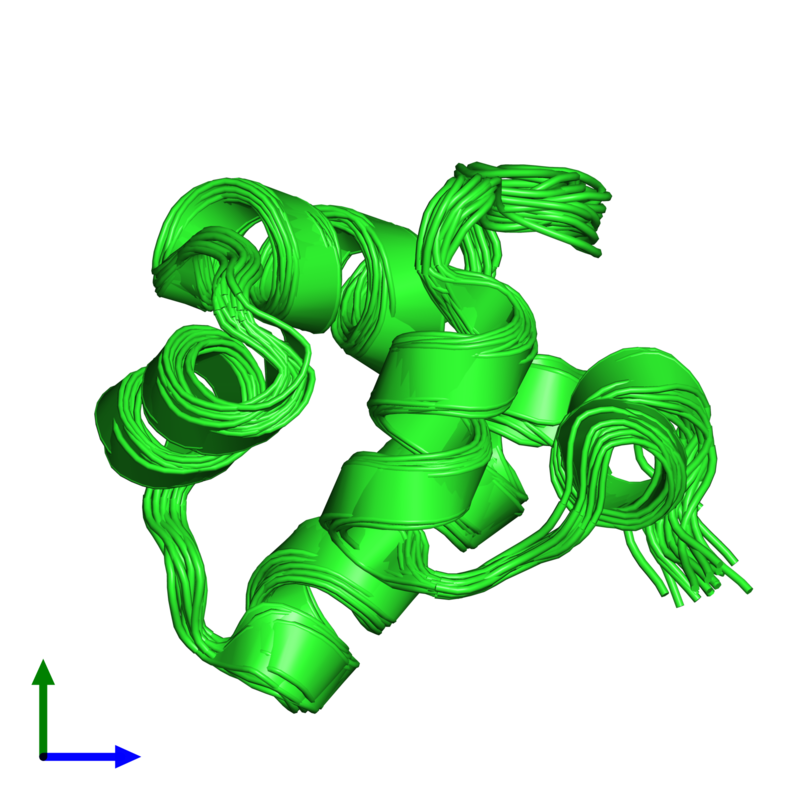 <div class='caption-body'><ul class ='image_legend_ul'>The deposited structure of PDB entry 1r63 coloured by chain and viewed from the front. The entry contains: <li class ='image_legend_li'>1 copy of Repressor protein CI</li><li class ='image_legend_li'>There are no non-polymeric molecules</li></ul></li></ul></li></div>