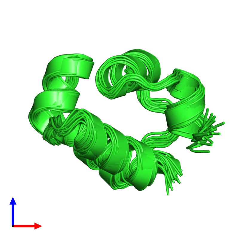 <div class='caption-body'><ul class ='image_legend_ul'>The deposited structure of PDB entry 1r63 coloured by chain and viewed from the side. The entry contains: <li class ='image_legend_li'>1 copy of Repressor protein CI</li><li class ='image_legend_li'>There are no non-polymeric molecules</li></ul></li></ul></li></div>