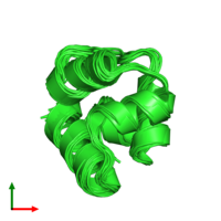 PDB 1r63 coloured by chain and viewed from the top.