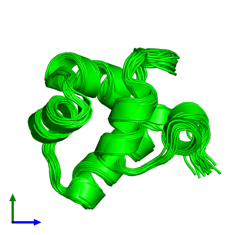 <div class='caption-body'><ul class ='image_legend_ul'>The deposited structure of PDB entry 1r63 coloured by chemically distinct molecules and viewed from the front. The entry contains: <li class ='image_legend_li'>1 copy of Repressor protein CI</li><li class ='image_legend_li'>There are no non-polymeric molecules</li></ul></li></ul></li></div>