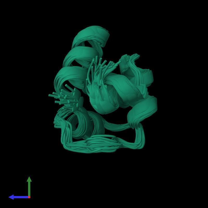 <div class='caption-body'><ul class ='image_legend_ul'>The deposited structure of PDB entry 1r63 coloured by chemically distinct molecules and viewed from the side. The entry contains: <li class ='image_legend_li'>1 copy of Repressor protein CI</li><li class ='image_legend_li'>There are no non-polymeric molecules</li></ul></li></ul></li></div>