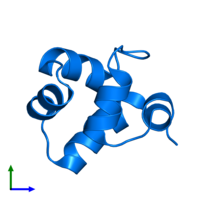 PDB 1r63 contains 1 copy of Repressor protein CI in assembly 1. This protein is highlighted and viewed from the front.