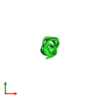 PDB 1r9u coloured by chain and viewed from the top.