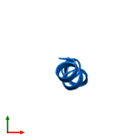 PDB 1r9u contains 1 copy of ZERVAMICIN IIB in assembly 1. This protein is highlighted and viewed from the top.