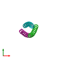 PDB 1rb4 coloured by chain and viewed from the top.