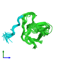 PDB 1rlp coloured by chain and viewed from the front.