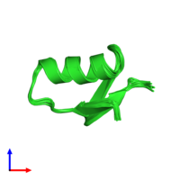 PDB 1sis coloured by chain and viewed from the front.