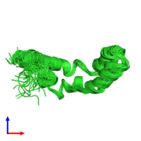 PDB 1sn6 coloured by chain and viewed from the side.