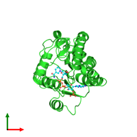 PDB 1sny coloured by chain and viewed from the top.
