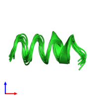 PDB 1sut coloured by chain and viewed from the side.