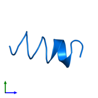 PDB 1sut contains 1 copy of DNA replication terminus site-binding protein in assembly 1. This protein is highlighted and viewed from the front.