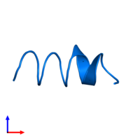 PDB 1sut contains 1 copy of DNA replication terminus site-binding protein in assembly 1. This protein is highlighted and viewed from the side.