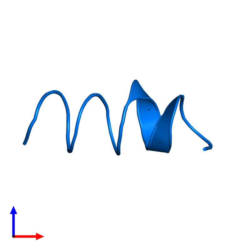 <div class='caption-body'>PDB entry 1sut contains 1 copy of DNA replication terminus site-binding protein in assembly 1. This protein is highlighted and viewed from the side.</div>