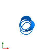 PDB 1sut contains 1 copy of DNA replication terminus site-binding protein in assembly 1. This protein is highlighted and viewed from the top.