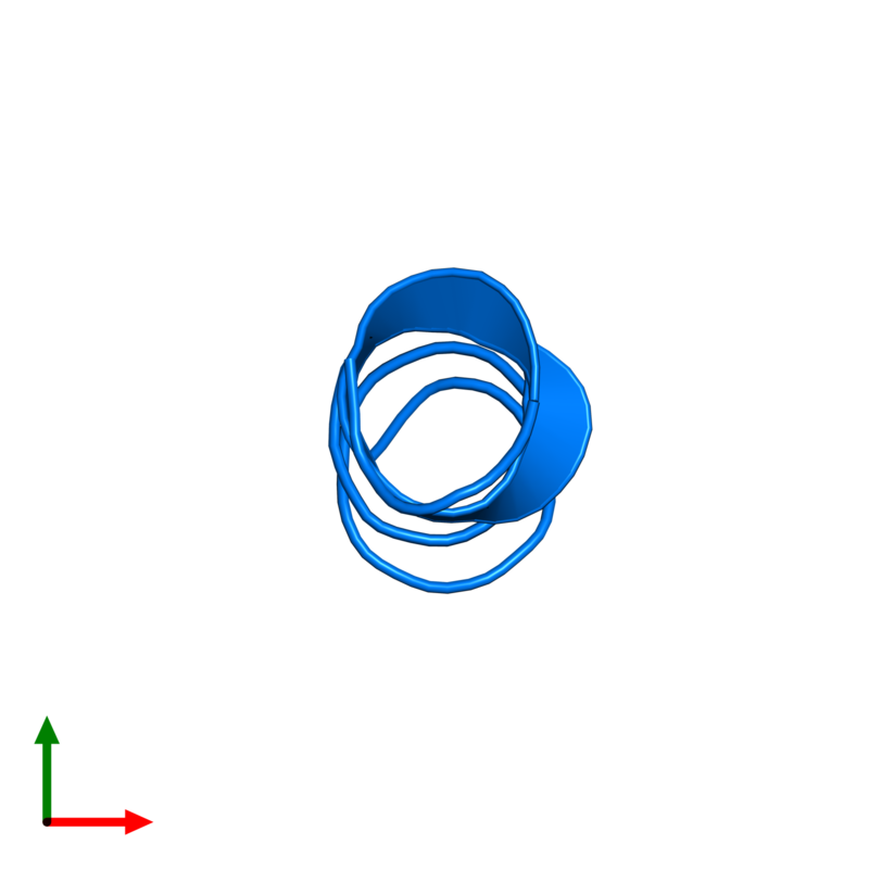 <div class='caption-body'>PDB entry 1sut contains 1 copy of DNA replication terminus site-binding protein in assembly 1. This protein is highlighted and viewed from the top.</div>