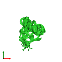 PDB 1t1h coloured by chain and viewed from the top.