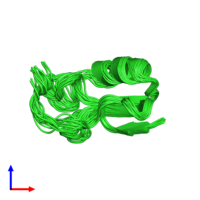 PDB 1t1t coloured by chain and viewed from the side.