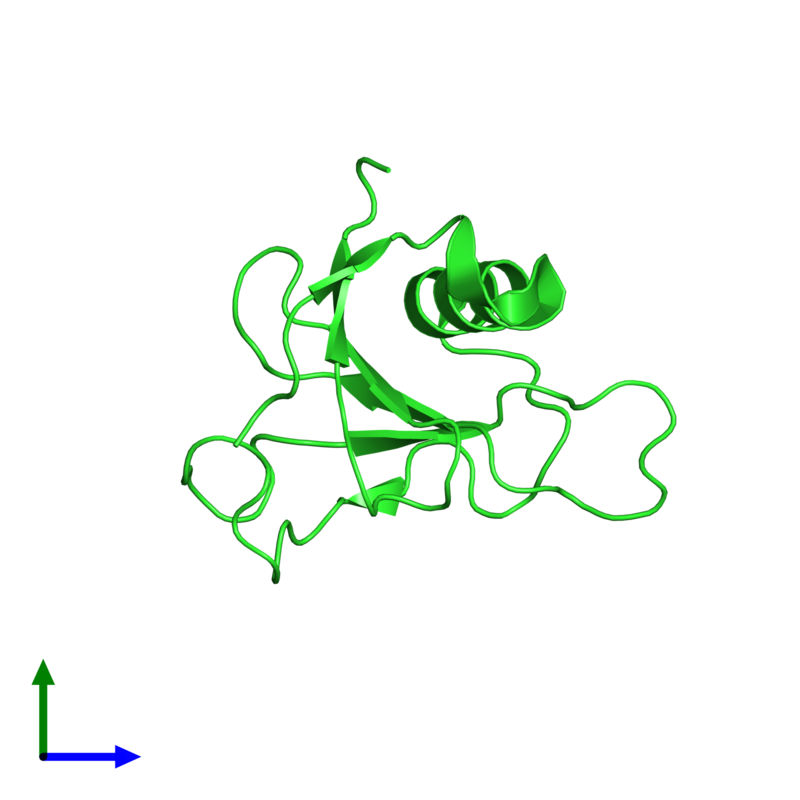 <div class='caption-body'><ul class ='image_legend_ul'>The deposited structure of PDB entry 1t2i coloured by chain and viewed from the front. The entry contains: <li class ='image_legend_li'>1 copy of Guanyl-specific ribonuclease Sa</li><li class ='image_legend_li'>There are no non-polymeric molecules</li></ul></li></ul></li></div>