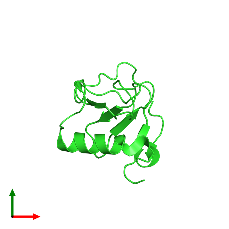 <div class='caption-body'><ul class ='image_legend_ul'>The deposited structure of PDB entry 1t2i coloured by chain and viewed from the top. The entry contains: <li class ='image_legend_li'>1 copy of Guanyl-specific ribonuclease Sa</li><li class ='image_legend_li'>There are no non-polymeric molecules</li></ul></li></ul></li></div>