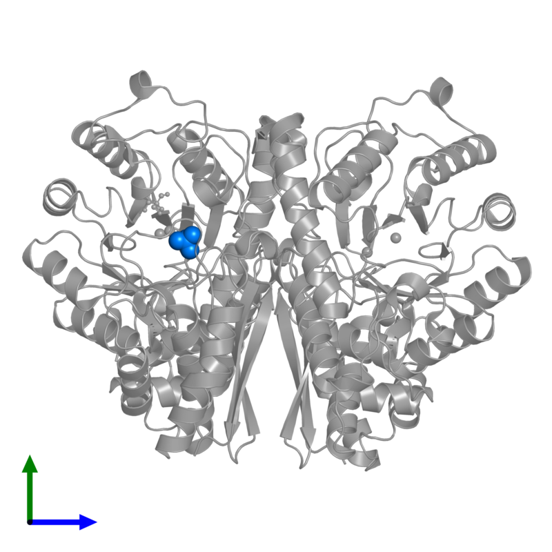 <div class='caption-body'>PDB entry 1te6 contains 1 copy of PHOSPHATE ION in assembly 1. This small molecule is highlighted and viewed from the front.</div>