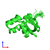 PDB 1te7 coloured by chain and viewed from the side.