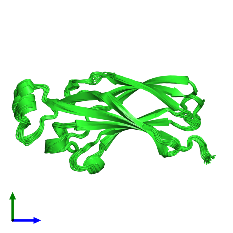 <div class='caption-body'><ul class ='image_legend_ul'>The deposited structure of PDB entry 1tey coloured by chain and viewed from the front. The entry contains: <li class ='image_legend_li'>1 copy of ASF1 anti-silencing function 1 homolog A</li><li class ='image_legend_li'>There are no non-polymeric molecules</li></ul></li></ul></li></div>