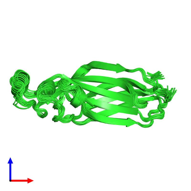 <div class='caption-body'><ul class ='image_legend_ul'>The deposited structure of PDB entry 1tey coloured by chain and viewed from the side. The entry contains: <li class ='image_legend_li'>1 copy of ASF1 anti-silencing function 1 homolog A</li><li class ='image_legend_li'>There are no non-polymeric molecules</li></ul></li></ul></li></div>