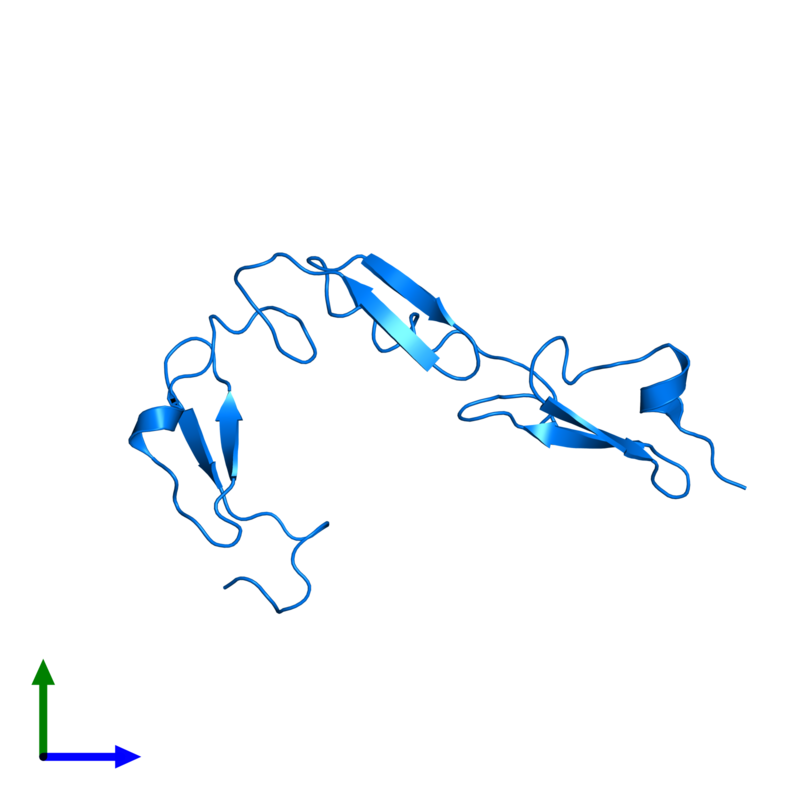 <div class='caption-body'>PDB entry 1toz contains 1 copy of Neurogenic locus notch homolog protein 1 in assembly 1. This protein is highlighted and viewed from the front.</div>