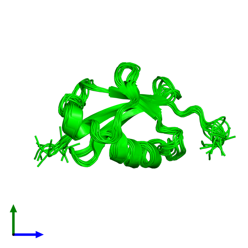 <div class='caption-body'><ul class ='image_legend_ul'>The deposited structure of PDB entry 1ttn coloured by chemically distinct molecules and viewed from the front. The entry contains: <li class ='image_legend_li'>1 copy of Ubiquitin domain-containing protein 2</li><li class ='image_legend_li'>There are no non-polymeric molecules</li></ul></li></ul></li></div>