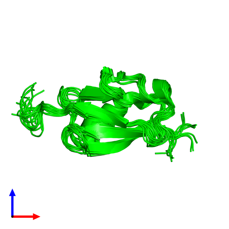 <div class='caption-body'><ul class ='image_legend_ul'>The deposited structure of PDB entry 1ttn coloured by chemically distinct molecules and viewed from the side. The entry contains: <li class ='image_legend_li'>1 copy of Ubiquitin domain-containing protein 2</li><li class ='image_legend_li'>There are no non-polymeric molecules</li></ul></li></ul></li></div>
