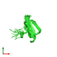 PDB 1tus coloured by chain and viewed from the top.