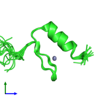 PDB 1u86 coloured by chain and viewed from the front.