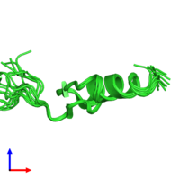 PDB 1u86 coloured by chain and viewed from the side.