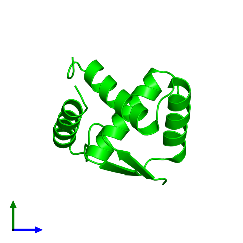 <div class='caption-body'><ul class ='image_legend_ul'> Monomeric assembly 1 of PDB entry 1u9p coloured by chemically distinct molecules and viewed from the front. This assembly contains:<li class ='image_legend_li'>One copy of pArc</li></ul></div>