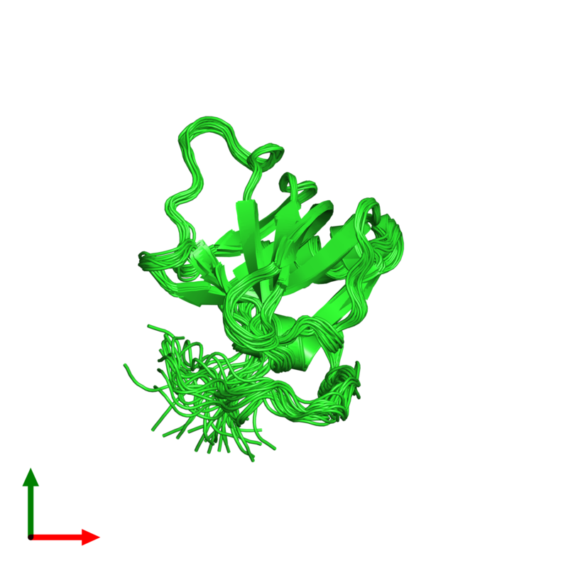 <div class='caption-body'><ul class ='image_legend_ul'>The deposited structure of PDB entry 1uap coloured by chain and viewed from the top. The entry contains: <li class ='image_legend_li'>1 copy of Procollagen C-proteinase enhancer protein</li><li class ='image_legend_li'>There are no non-polymeric molecules</li></ul></li></ul></li></div>